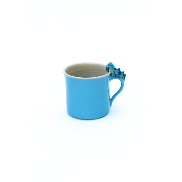 Drachentasse zylindrisch blau Größe M
