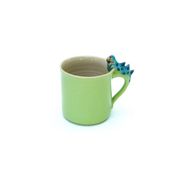 Drachentasse zylindrisch grün Größe M