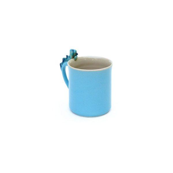 Drachentasse zylindrisch blau Größe: L