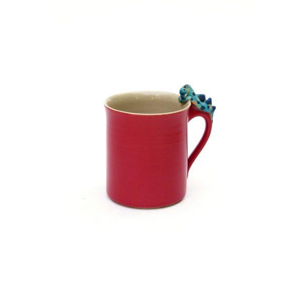 Drachentasse zylindrisch rot Größe: L
