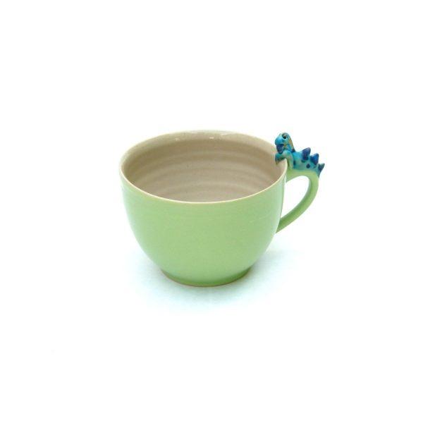 Drachentasse bauchig grün Größe L
